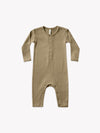 Ribbed Baby Jumpsuit | olive