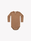 Ribbed Longsleeve Onesie | Copper