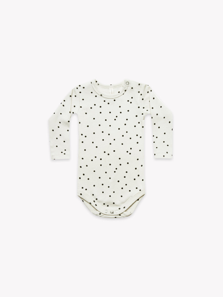 Ribbed Longsleeve Onesie | Pebble