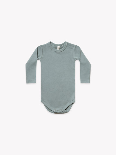 Ribbed Longsleeve Onesie | Sea