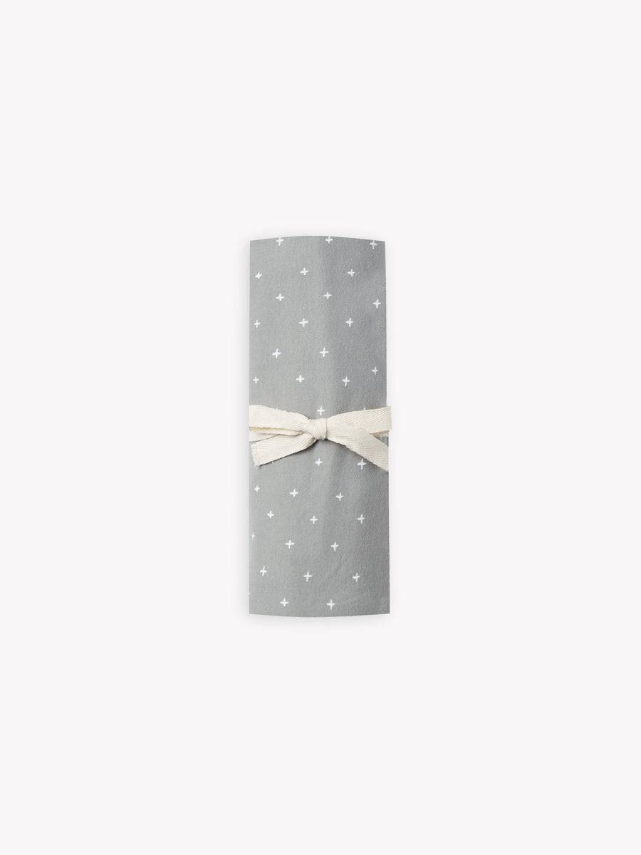 baby swaddle | dusty blue