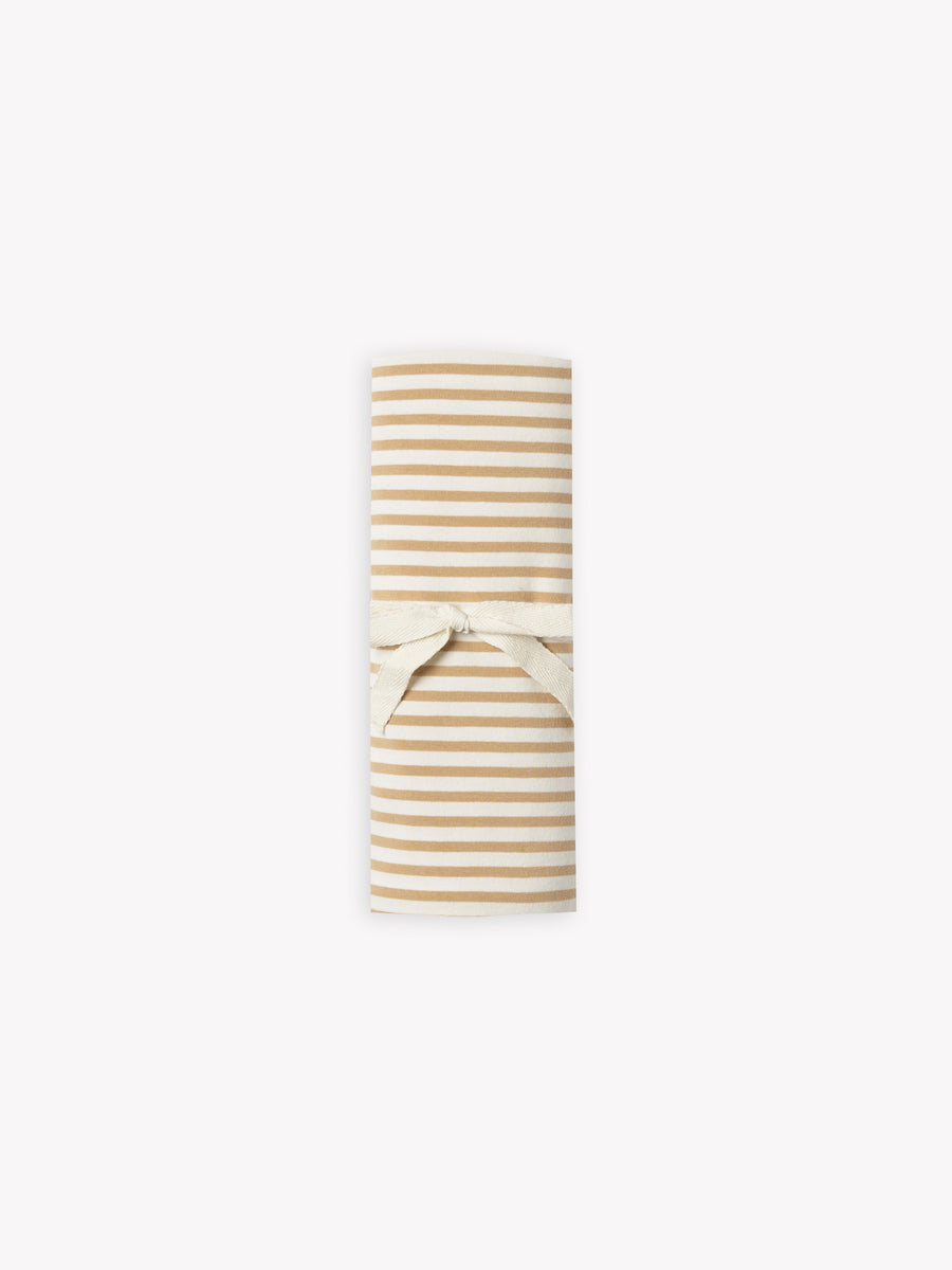 baby swaddle | honey stripe
