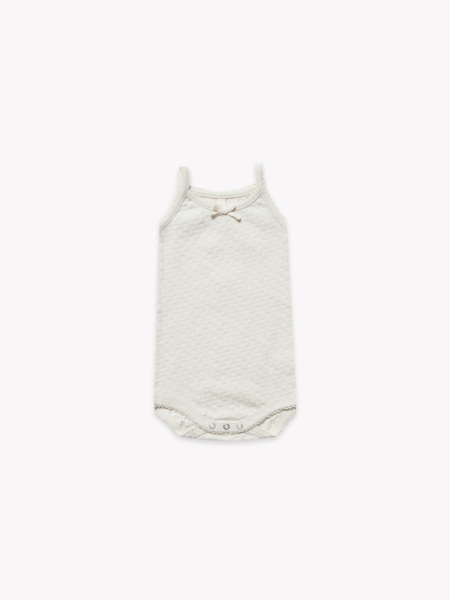 Pointelle Tank Onesie | Pebble