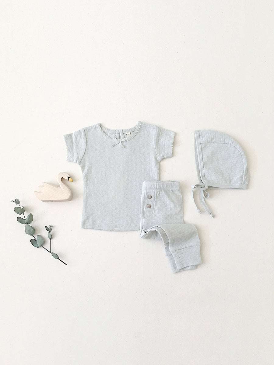 Pointelle Legging | sea glass - Quincy Mae | Baby Basics | Baby Clothing | Organic Baby Clothes | Modern Baby Boy Clothes |