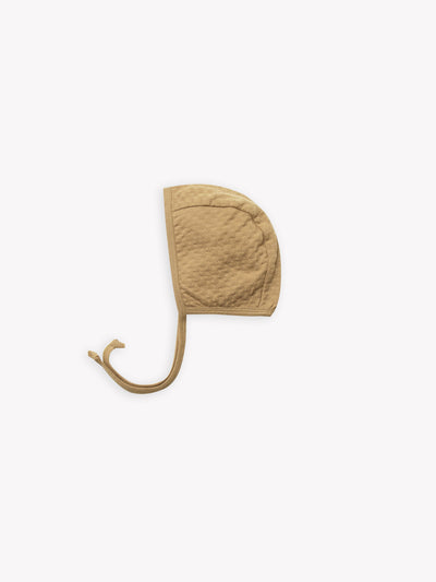 pointelle baby bonnet | honey - Quincy Mae | Baby Basics | Baby Clothing | Organic Baby Clothes | Modern Baby Boy Clothes |