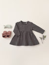 fleece dress | coal