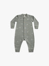 fleece jumpsuit | eucalyptus - Quincy Mae | Baby Basics | Baby Clothing | Organic Baby Clothes | Modern Baby Boy Clothes |
