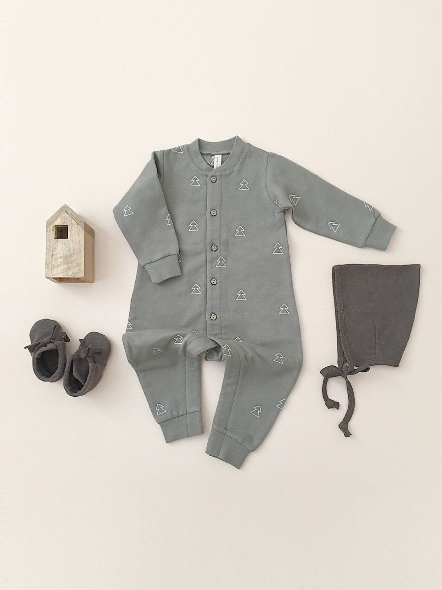 fleece jumpsuit | eucalyptus