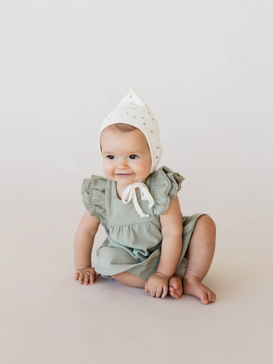 Flutter Dress | Sage - Quincy Mae | Baby Basics | Baby Clothing | Organic Baby Clothes | Modern Baby Boy Clothes |