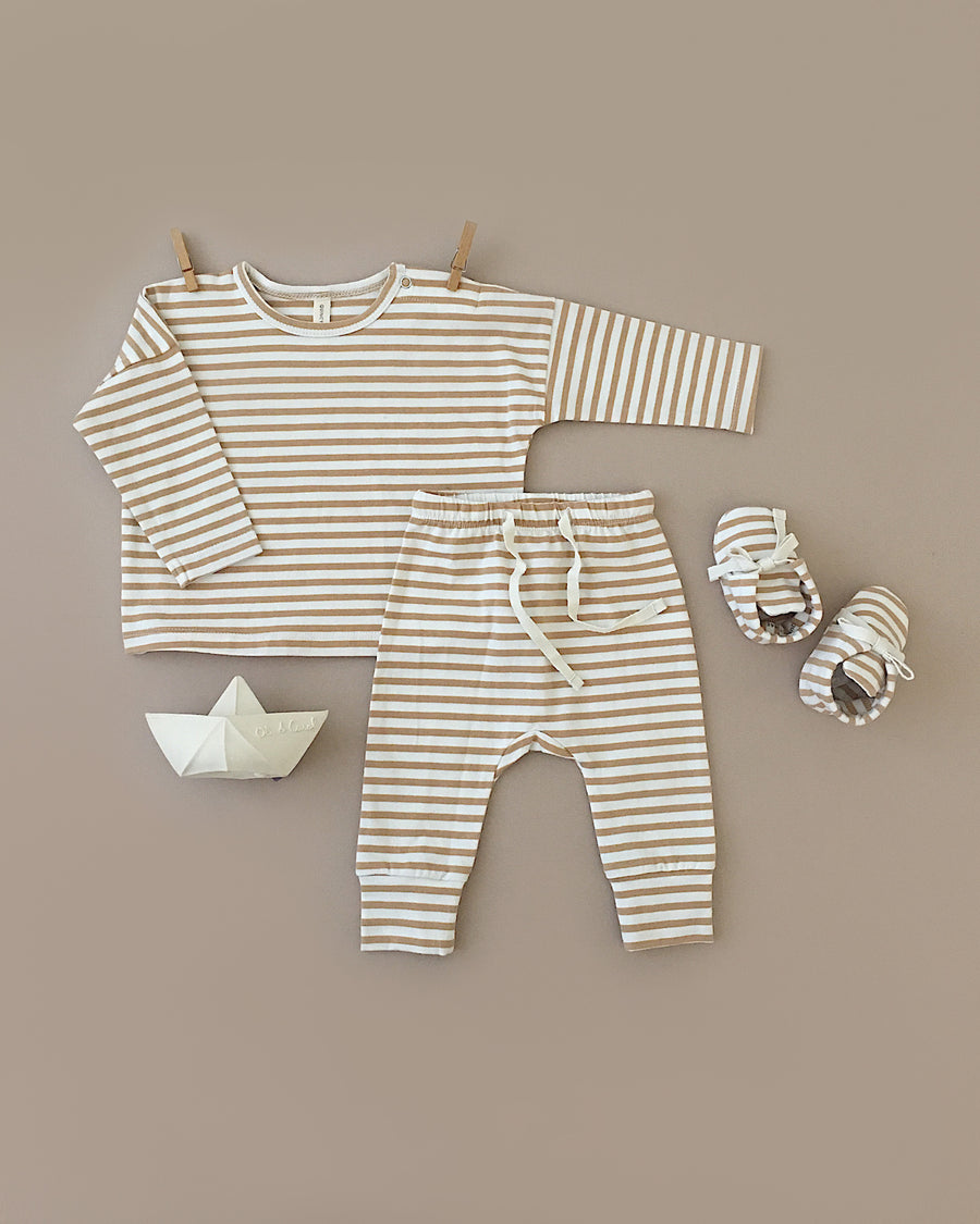 baby booties | honey stripe
