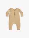 longsleeve jumpsuit | honey - Quincy Mae | Baby Basics | Baby Clothing | Organic Baby Clothes | Modern Baby Boy Clothes |