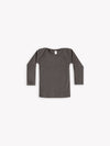 ribbed longsleeve baby tee | coal - Quincy Mae | Baby Basics | Baby Clothing | Organic Baby Clothes | Modern Baby Boy Clothes |