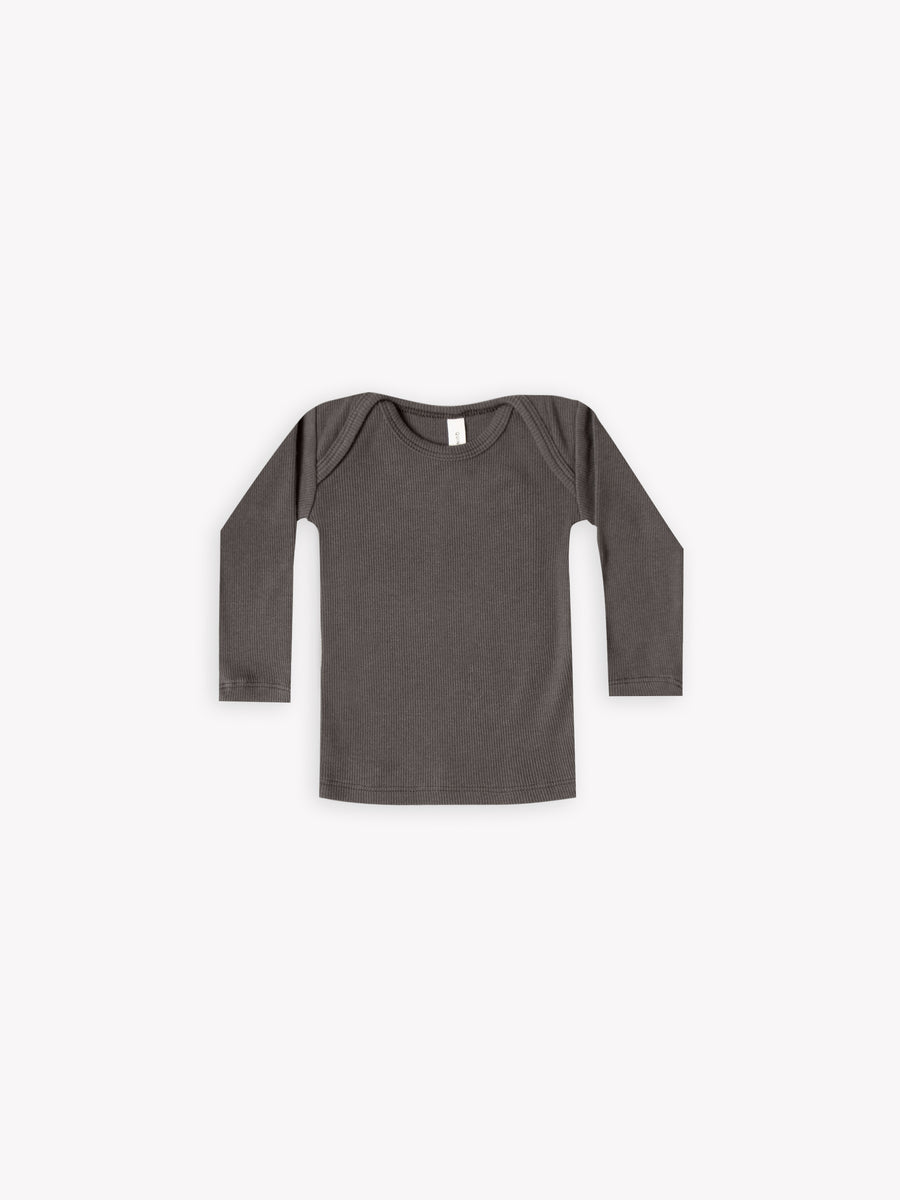 Ribbed Lap Tee | Coal