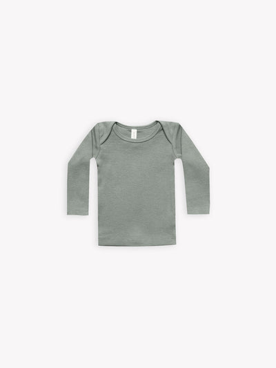 ribbed longsleeve baby tee | eucalyptus - Quincy Mae | Baby Basics | Baby Clothing | Organic Baby Clothes | Modern Baby Boy Clothes |