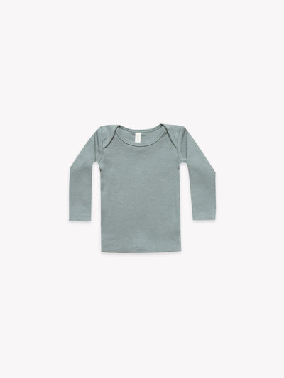 Ribbed Lap Tee | Sea