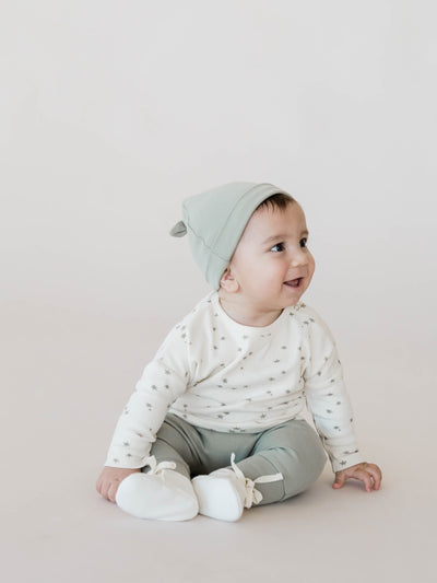 Knotted Baby Hat | Sage