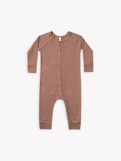 pointelle long john | clay - Quincy Mae | Baby Basics | Baby Clothing | Organic Baby Clothes | Modern Baby Boy Clothes |