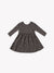 ribbed longsleeve dress | coal