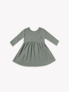 ribbed longsleeve dress | eucalyptus