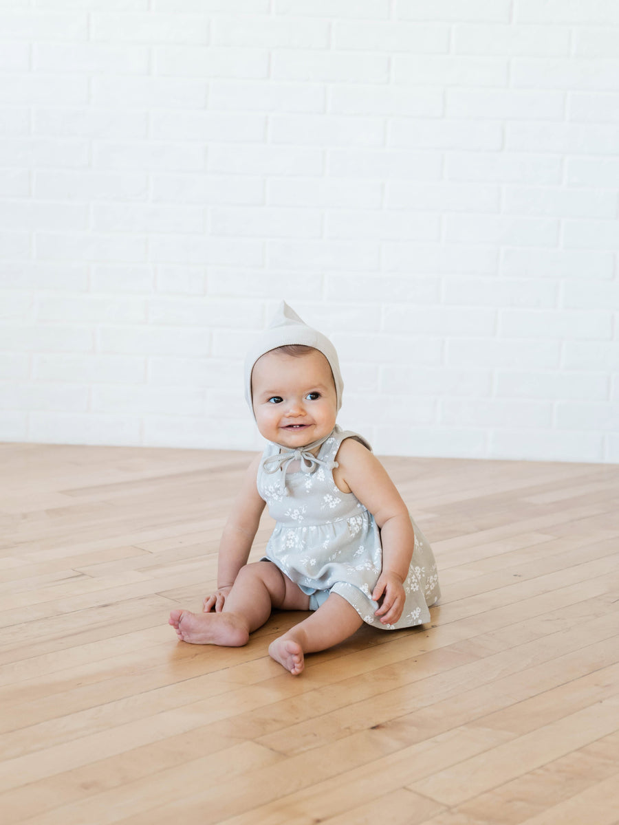 Ribbed Tank Dress | Ash - Quincy Mae | Baby Basics | Baby Clothing | Organic Baby Clothes | Modern Baby Boy Clothes |