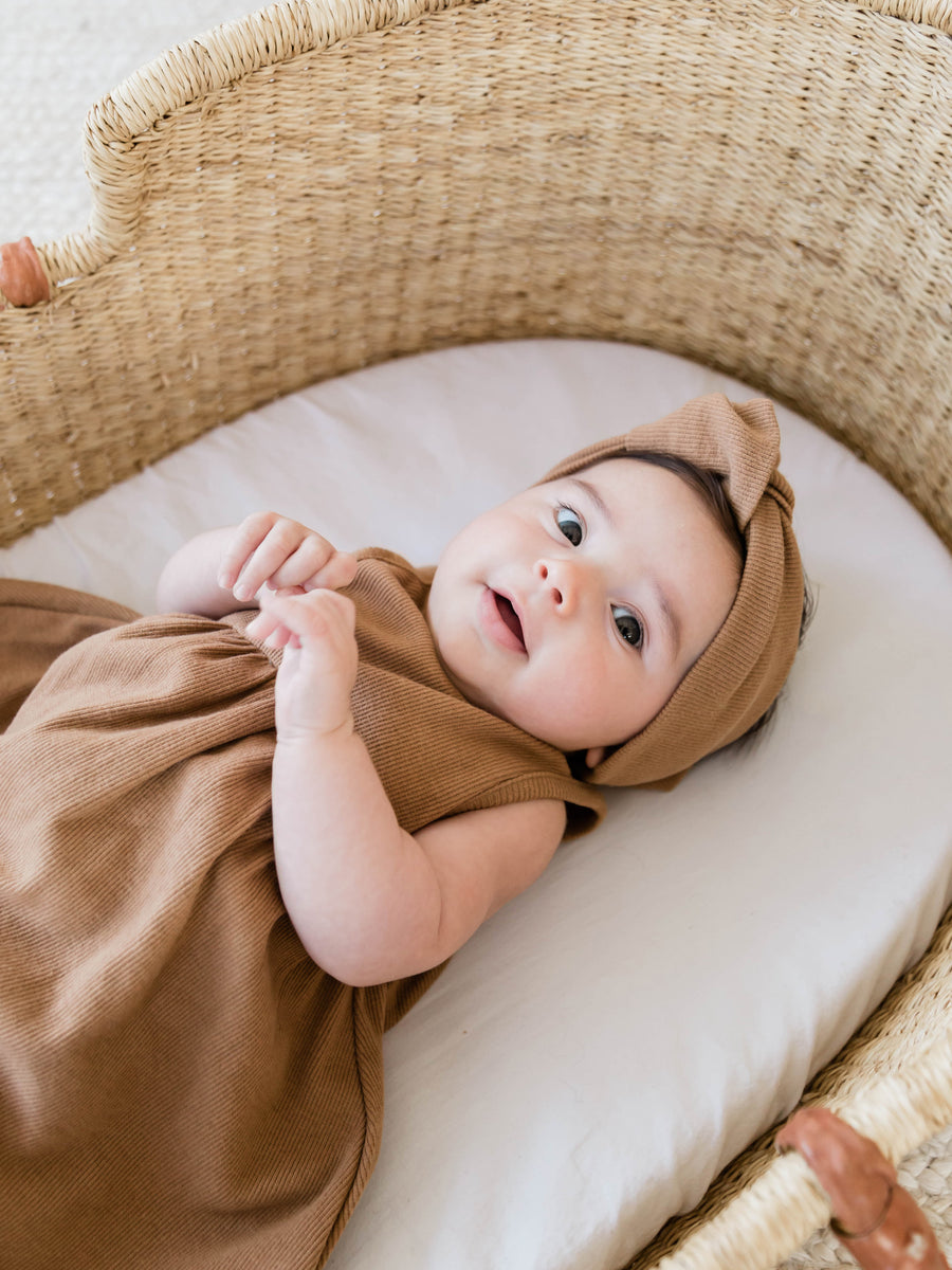 Ribbed Turban | Copper - Quincy Mae | Baby Basics | Baby Clothing | Organic Baby Clothes | Modern Baby Boy Clothes |