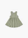 Ribbed Tank Dress | moss - Quincy Mae | Baby Basics | Baby Clothing | Organic Baby Clothes | Modern Baby Boy Clothes |