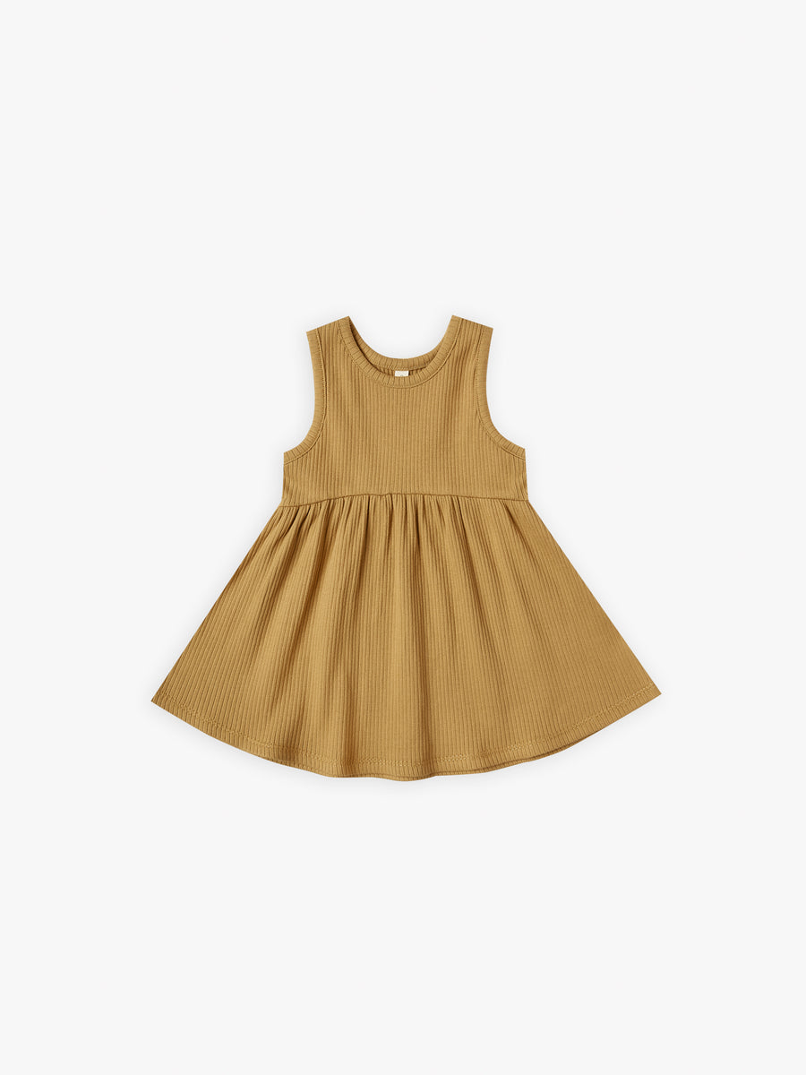 Ribbed Tank Dress | ochre