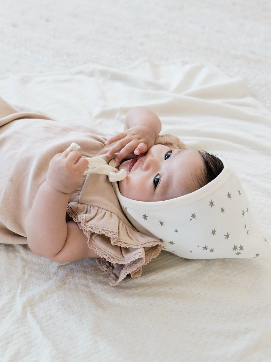 Pixie Bonnet | Ivory Star - Quincy Mae | Baby Basics | Baby Clothing | Organic Baby Clothes | Modern Baby Boy Clothes |