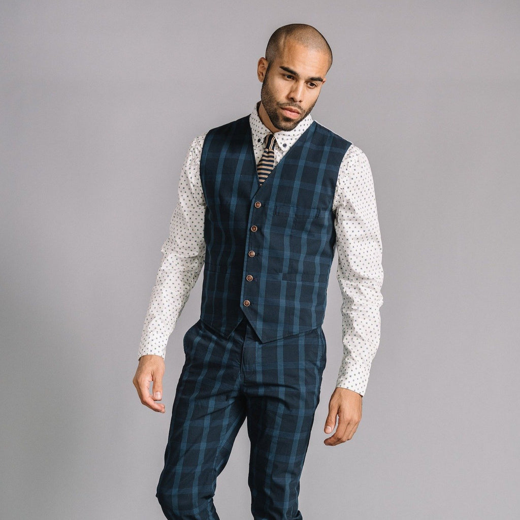 Albert Vest in Stretch Plaid Ripstop
