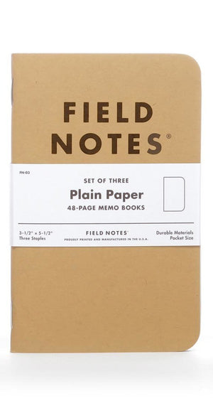 PLAIN PAPER SET OF 3 NOTEBOOKS
