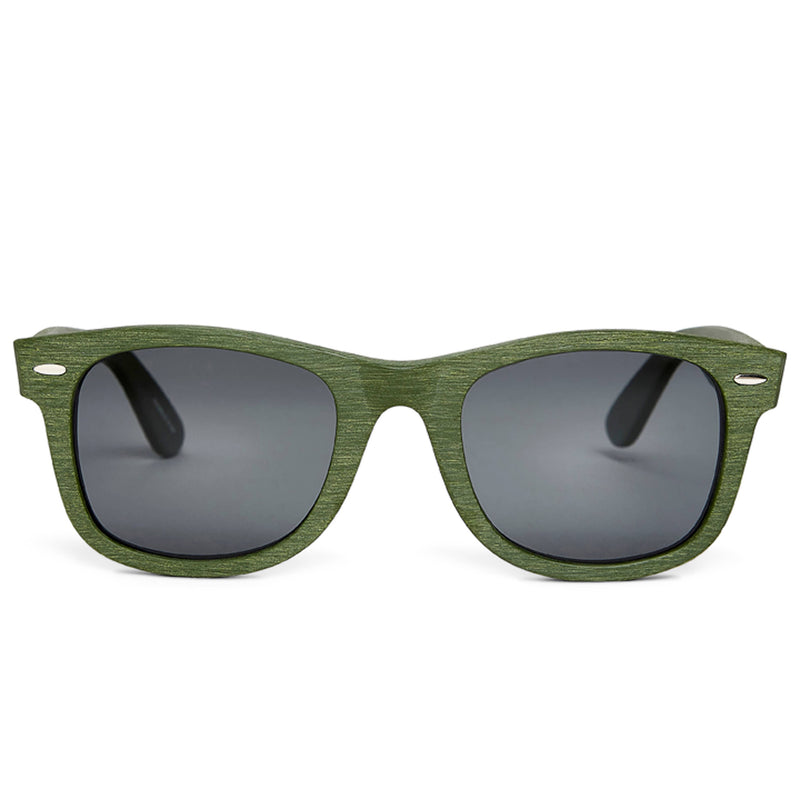 ZEUS Polarized Green Sunglasses - Grey Lens