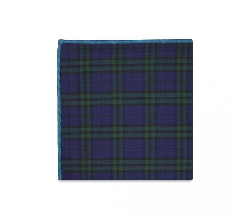 The Conner Plaid Cotton Pocket Square