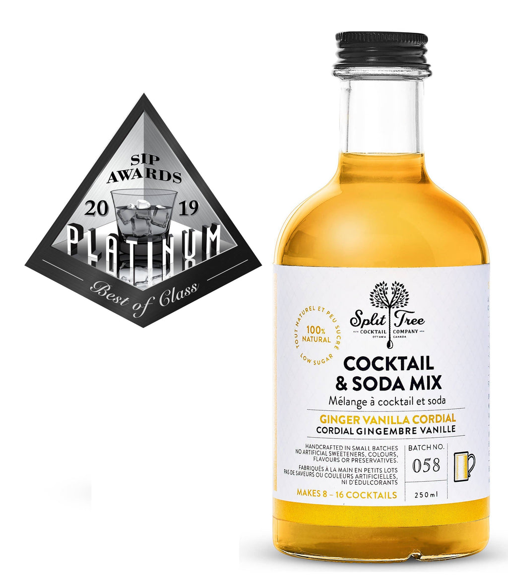 Ginger Vanilla Cordial Cocktail and Soda Mix