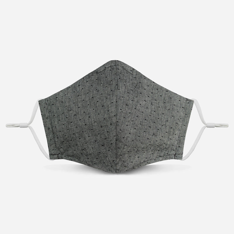 Unity Mask 2.0 w/ Filter Pocket (Gray Polka Dot)
