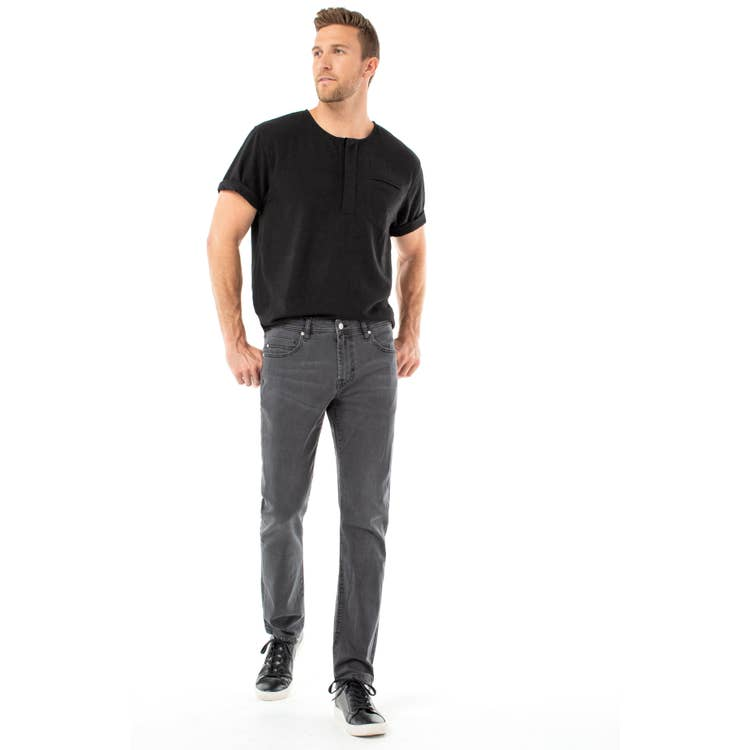 "Kingston Modern Slim Straight-Ghost Grey 34"" Inseam"