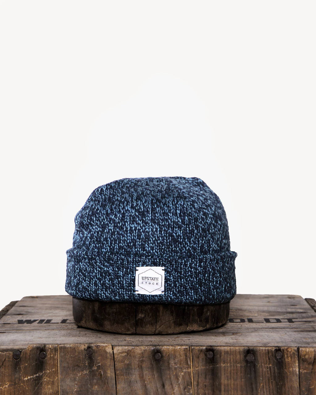 Denim Melange Ragg Wool Beanie