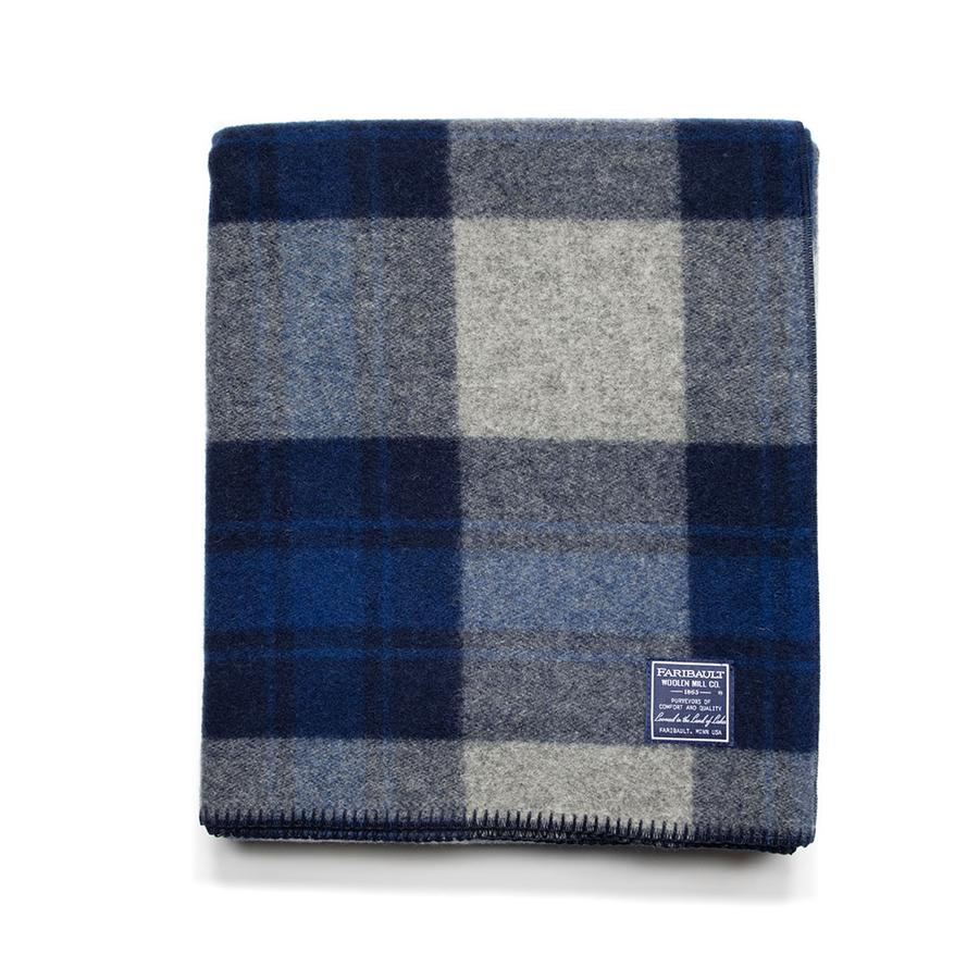 Defender Plaid Wool Blanket (TWIN)