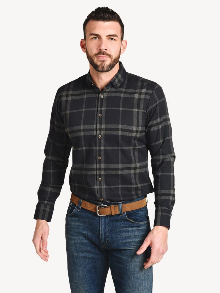 Proctor Flannel Navy Standard Fit