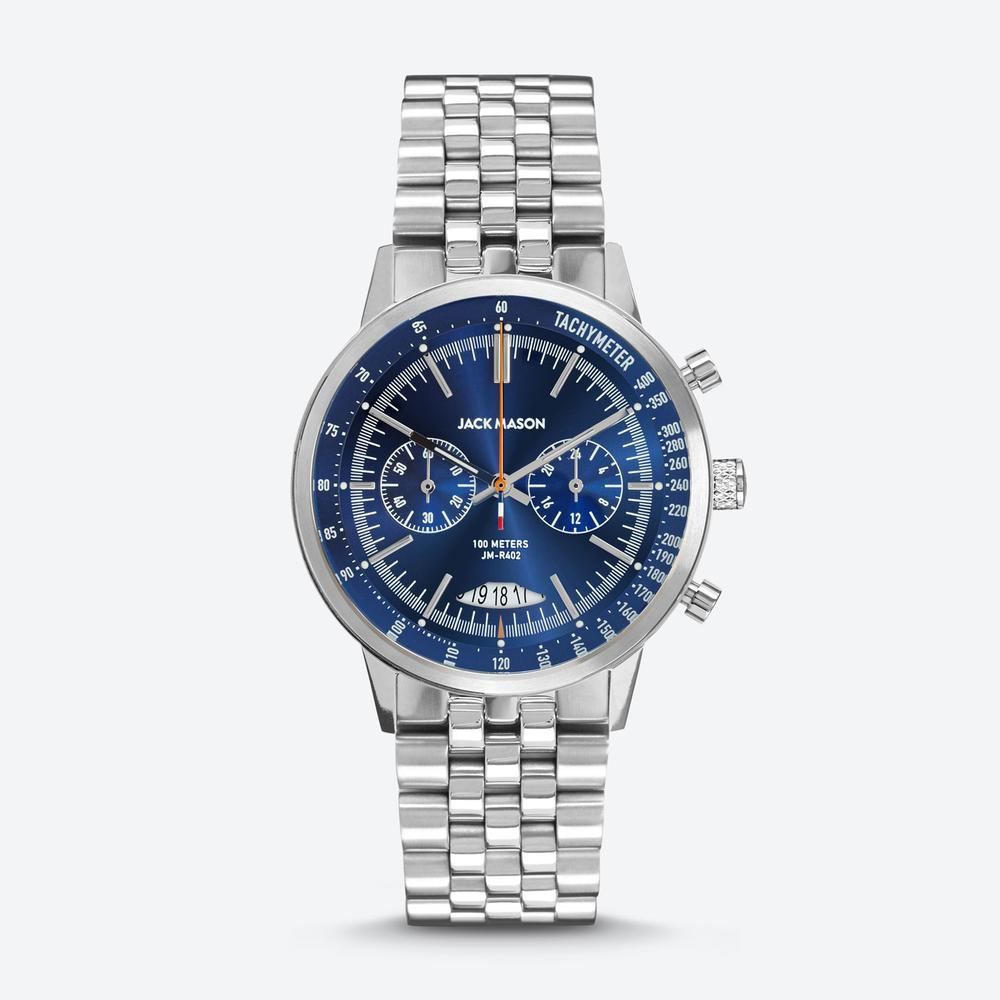 MIRABEAU RACING CHRONOGRAPH NAVY DIAL WITH STAINLESS STEEL BRACELET