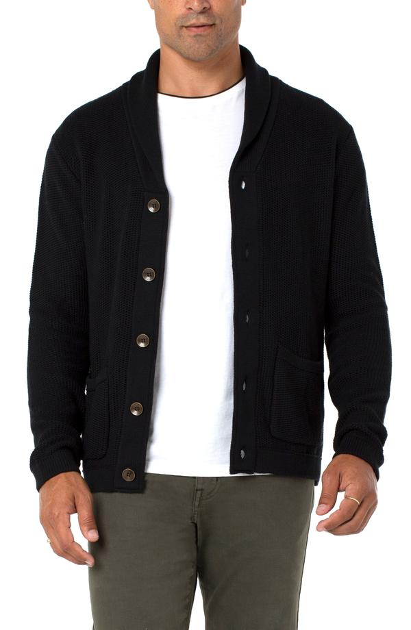 Knit Cardigan-Black