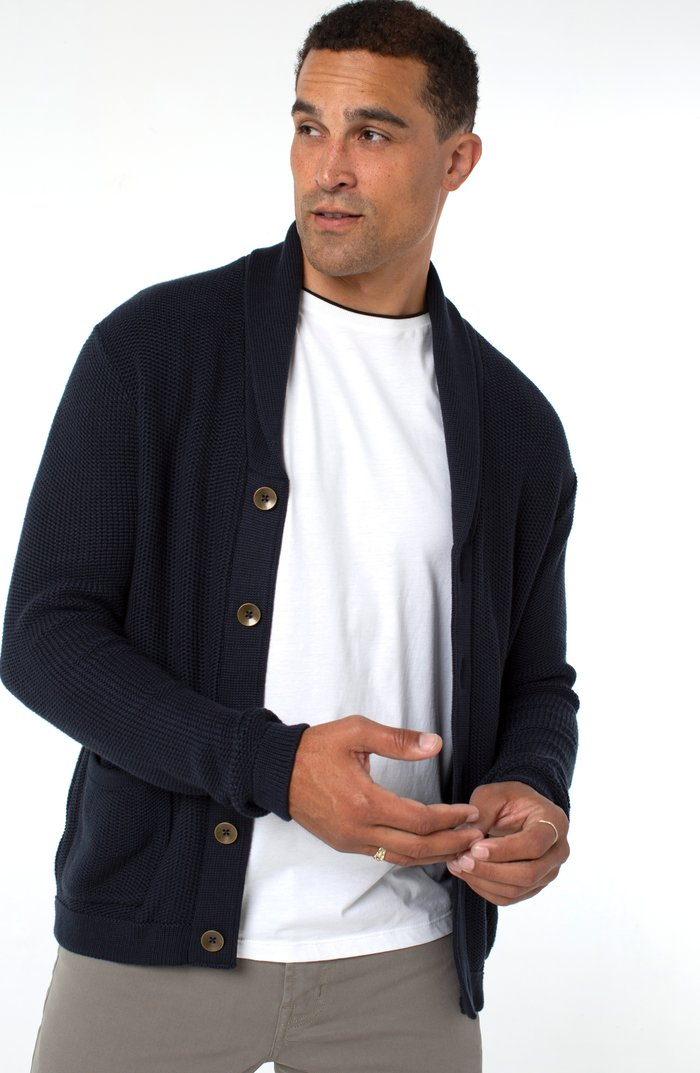 Knit Cardigan-Navy