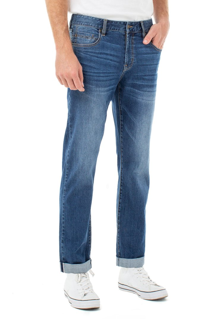 "Regent Relaxed Straight With Cuff - Wilshire 32"" Inseam"