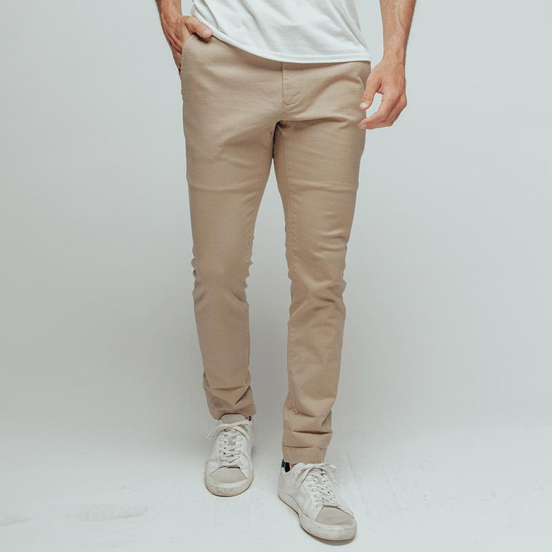 Normal Stretch Canvas Pant-Khaki