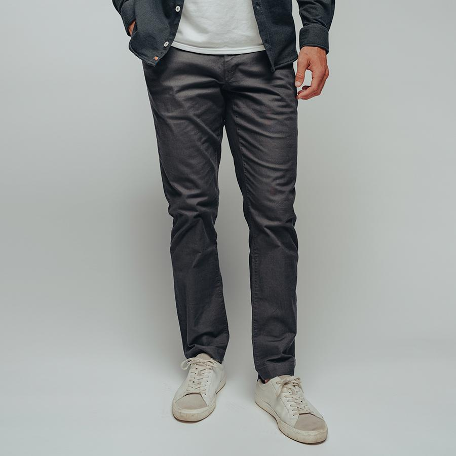 Normal Stretch Canvas Pant-Slate Grey