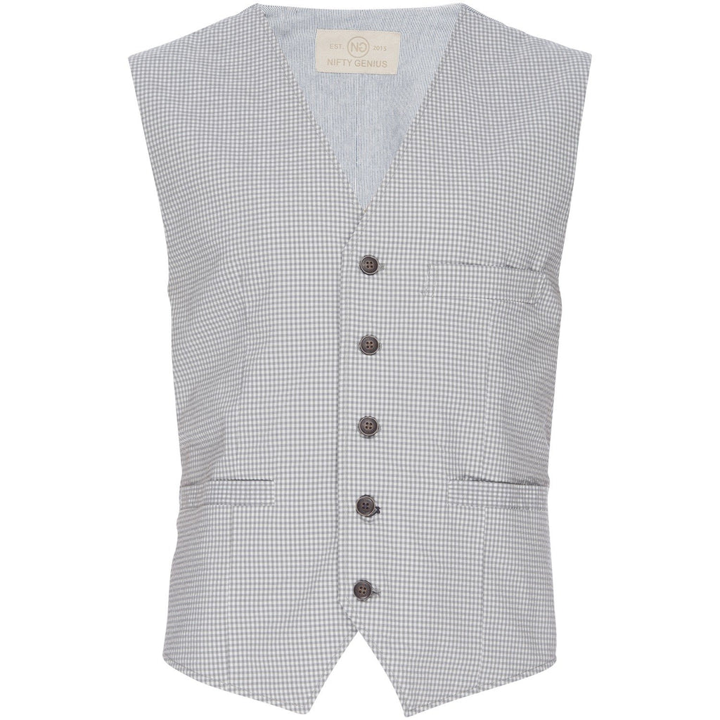 Albert Vest in Stretch Gingham Seersucker