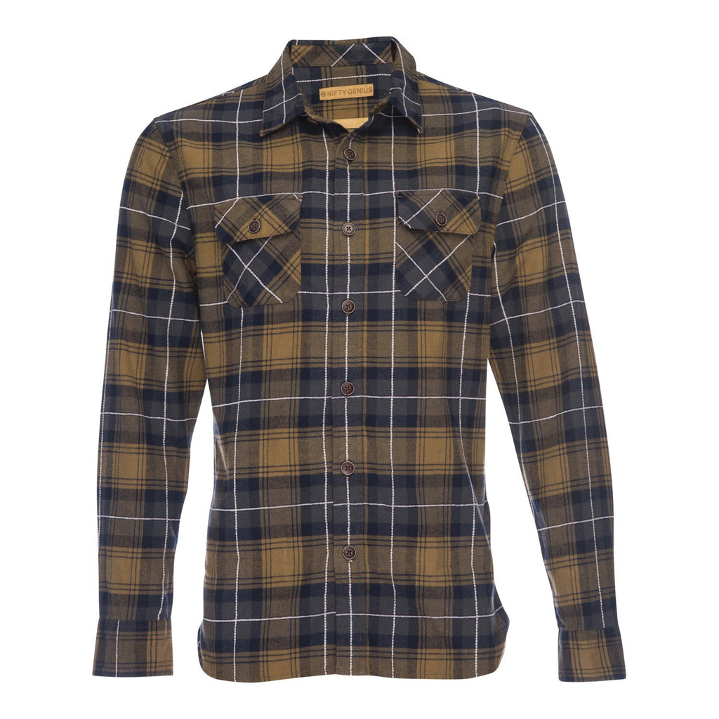 Truman Outdoor Shirt in Dobby Plaid