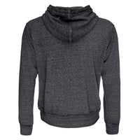 Cassius Burnout Hooded Sweatshirt in Dark Heather Gray