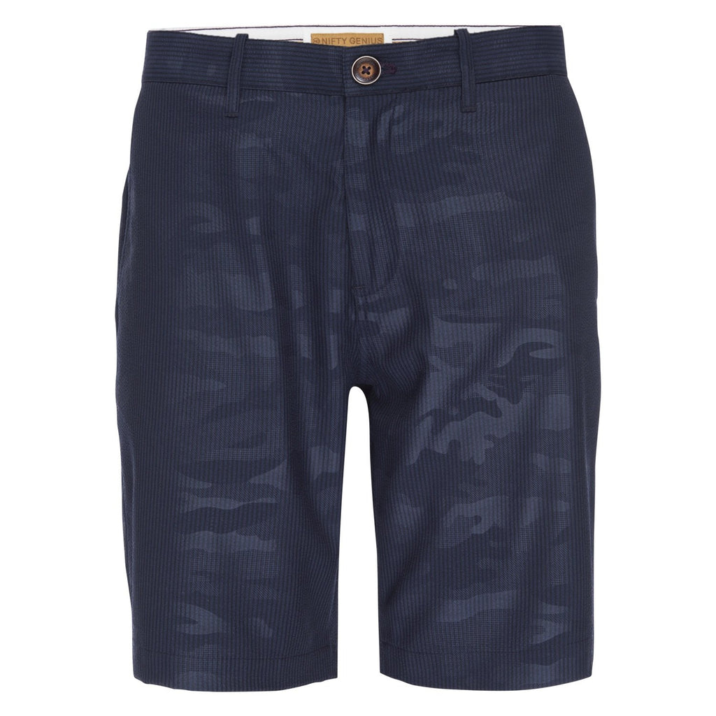 Morgan Bermuda Short in Camo Jacquard Seersucker