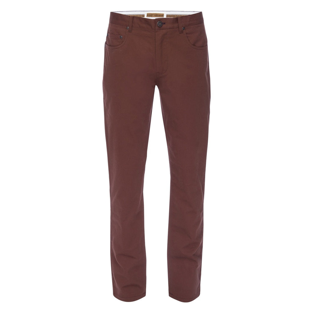 J.P. 5 Pocket Stretch Cotton Twill in Rust