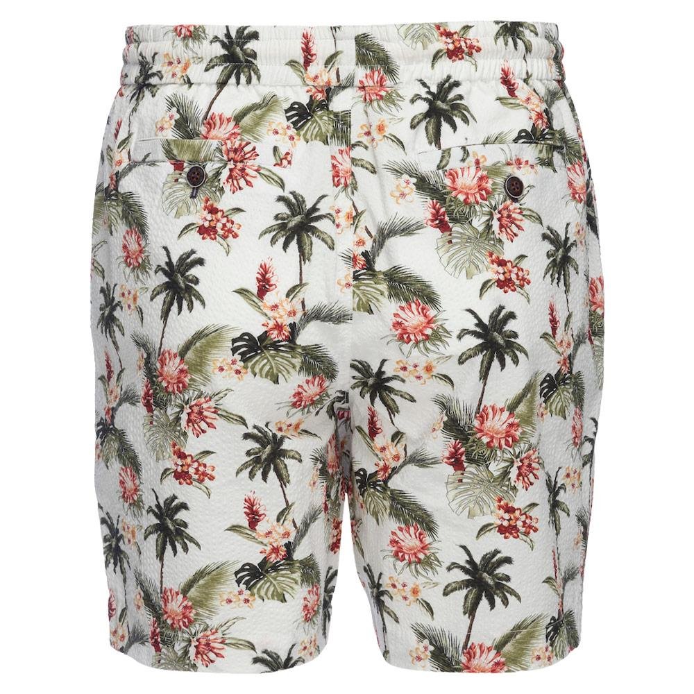 Kennedy Pull On Short in Seersucker Island Palm Print